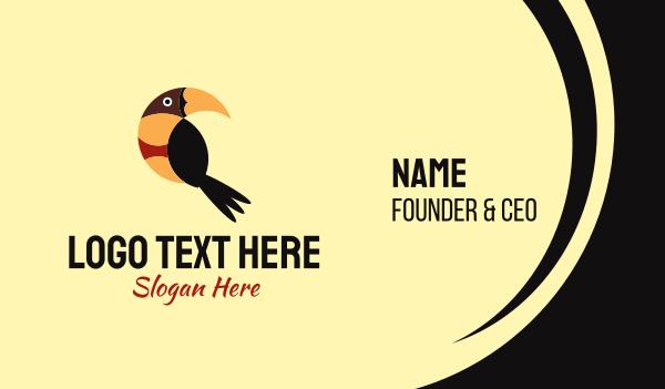 toucan - Tropical Bird Business card horizontal design