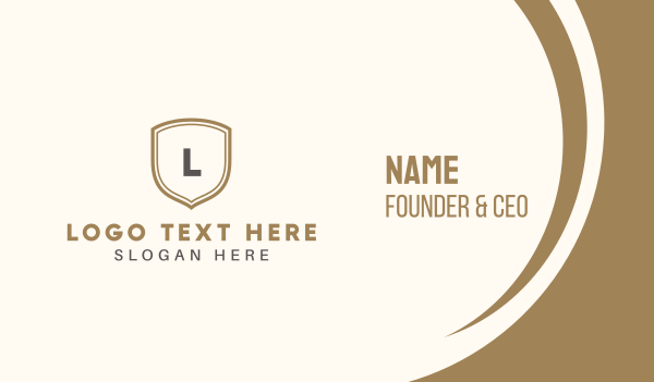 university - Golden Shield Business card horizontal design
