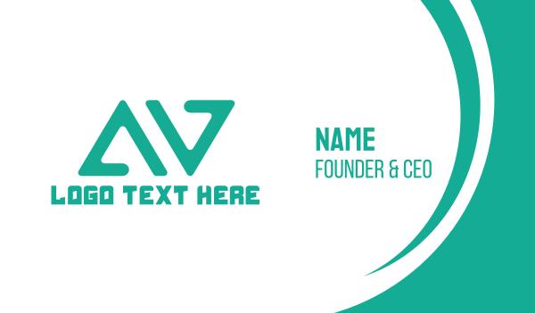 av - A & V Business card horizontal design