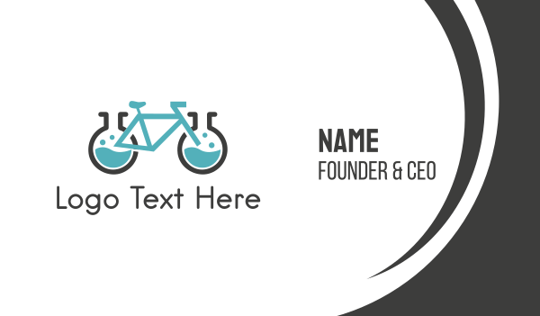 chromatography - Bike Laboratory Business card horizontal design