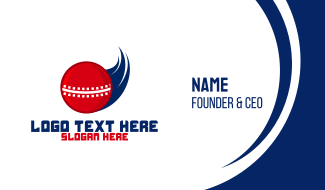 Fast Cricket Ball Business Card