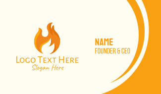 Hot Fire Flame Business Card