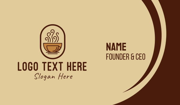 coffee bar - Hot Coffee Cafe Business card horizontal design