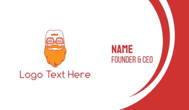 Hipster Beard Business Card