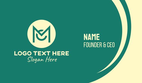 coporate - Monogram C & M Emblem Business card horizontal design