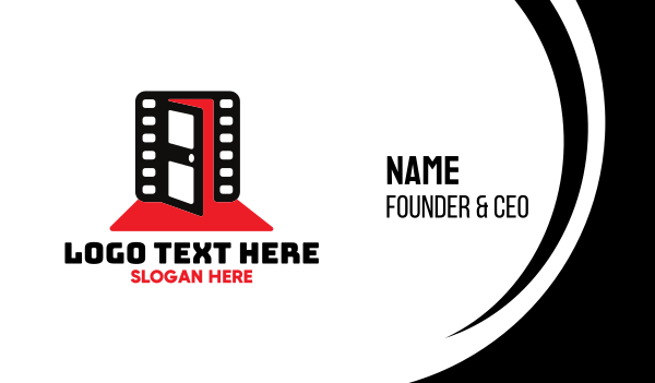 movie production - Cinematic Entrance Business card horizontal design