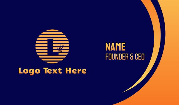 spices - Sunsent Lettermark Business card horizontal design