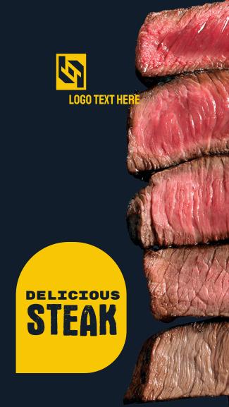 Delicious Steak Facebook story
