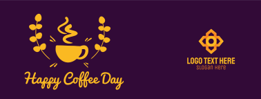 Happy Coffee Day Badge Facebook Cover