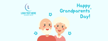 Grandparents Day Illustration Greeting Facebook cover