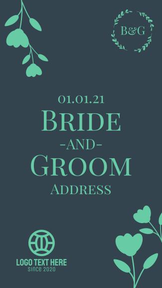 Bride & Groom Wedding Facebook story