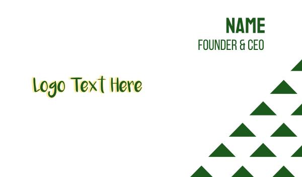 spring break - Green Tropical Wordmark Business card horizontal design