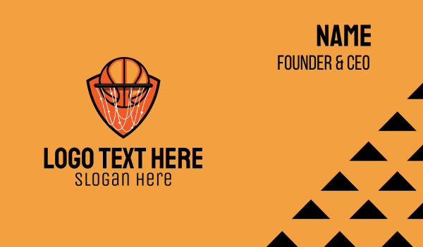 playoffs - Basketball Hoop Business card horizontal design