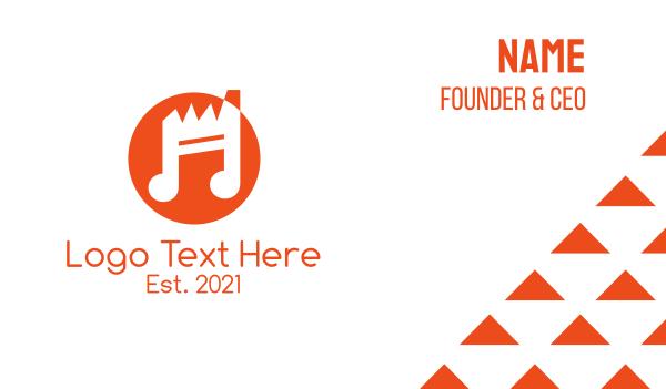 tone - Orange Musical Note Business card horizontal design