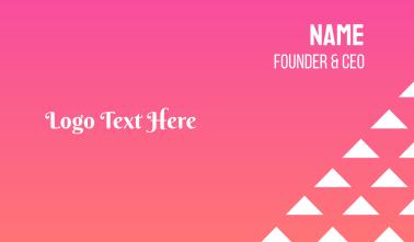 Feminine Script Wordmark Business Card