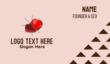 Chocolate Heart Box Business Card
