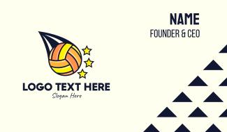 Volleyball Tournament Business Card