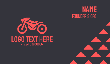 Automotive Red Motorcycle  Business Card