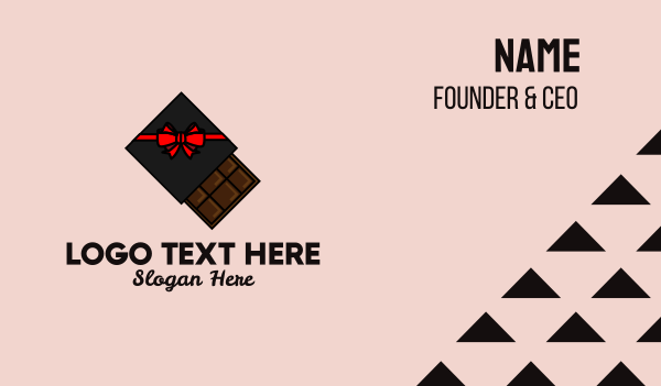bonus - Chocolate Gift Box  Business card horizontal design