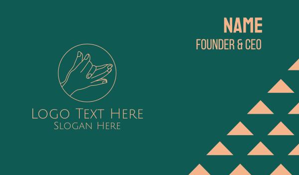 nails - Minimalist Hand Gesture  Business card horizontal design