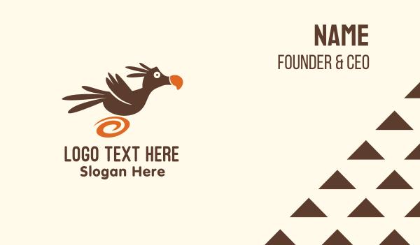 toy shop - Running Dodo Bird  Business card horizontal design