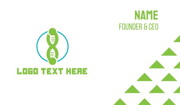 genes - DNA Tech Business card horizontal design