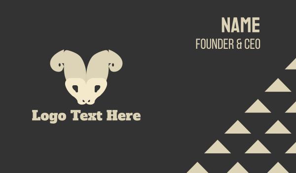 aries - Wild Goat Business card horizontal design