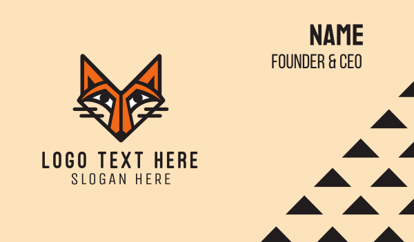 dhole - Orange Fox Business card horizontal design