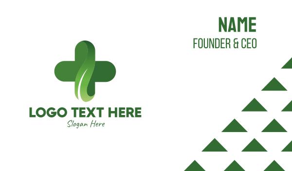 drugmaker - Natural Pharmacy Cross Business card horizontal design