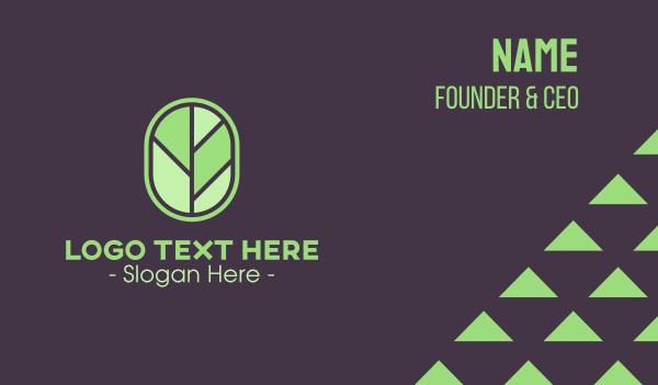 botanical-skincare - Tree Leaf Badge Business card horizontal design