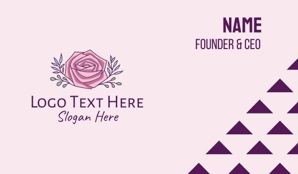 scent - Rose Flower Rosebud  Business card horizontal design