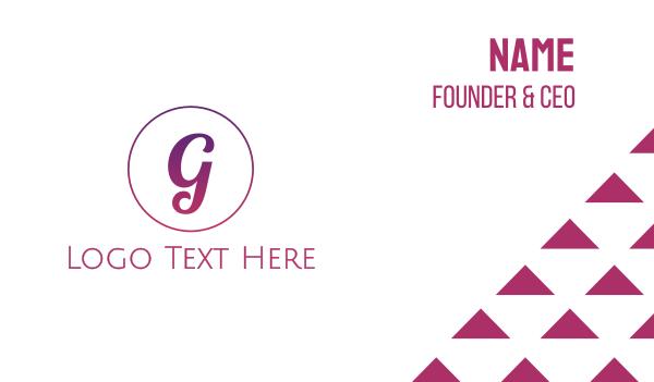 classy - Feminine Gradient G Business card horizontal design