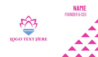 Pink Lotus Diamond Business Card