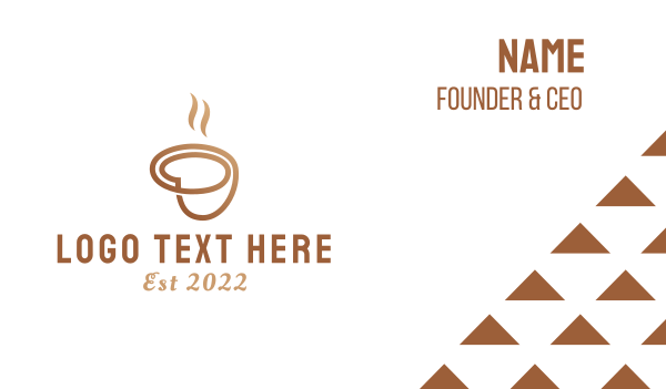 brown cup - Coffee Cup Business card horizontal design
