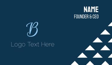 Blue Elegant B Business Card