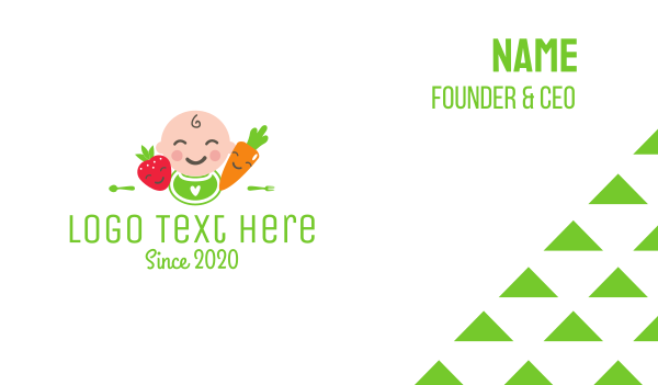 ingredients - Baby Food  Business card horizontal design