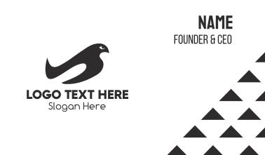 Black & White Bird Business Card