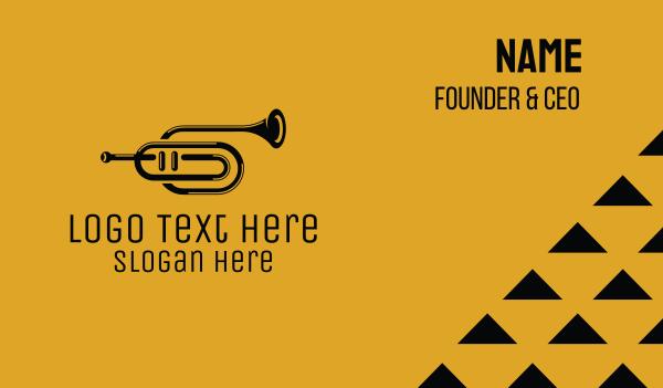 Vintage Trumpet Jazz Music Business Card