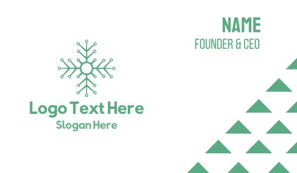 snowflake - Flower Tech Business card horizontal design