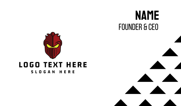 thug - Red Warrior Business card horizontal design