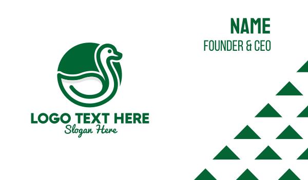 pond - Green Duck Business card horizontal design