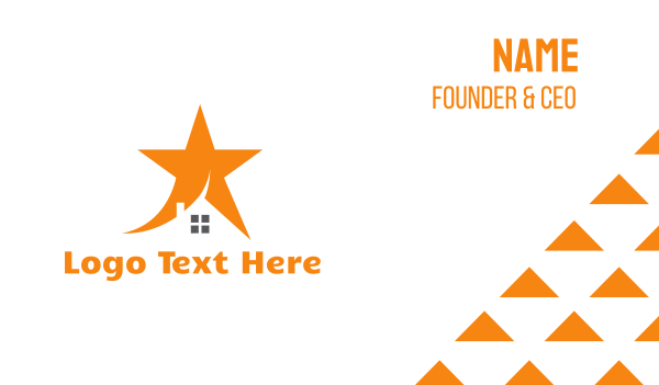 orange star - Orange Star House Business card horizontal design