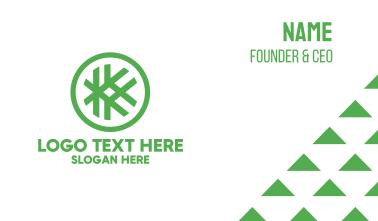 Hashtag K Badge Business Card