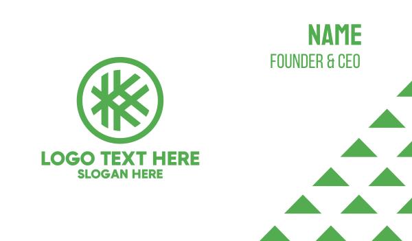 sew - Hashtag K Badge Business card horizontal design