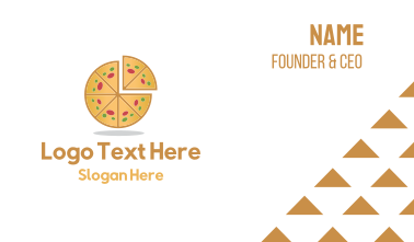 Pizza Pie Slice Business Card