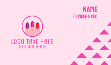 Manicure Nail Spa Salon Business Card