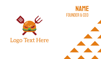 Burger Grill Hero Business Card