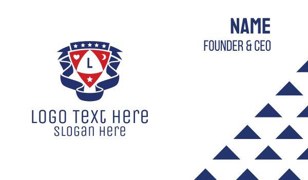poker - Club Shield Letter Business card horizontal design