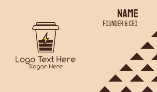 Coffee Cup Charger Business Card