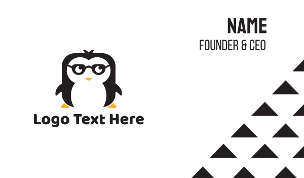 black bird - Nerd Penguin Business card horizontal design